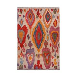 1990s Handwoven Angora Wool Shag Rug - 9′6″ × 13′6″ For Sale