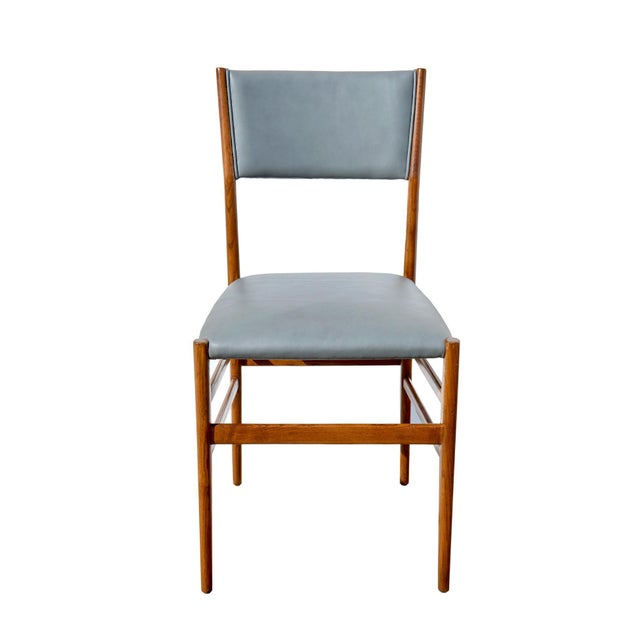 "Brown Set of Eight ""Leggera"" Dining Chairs by Gio Ponti For Sale - Image 8 of 12"