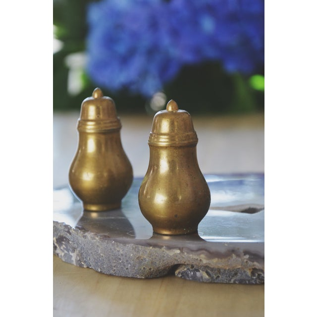 Vintage Brass Salt & Pepper Set - Image 2 of 4