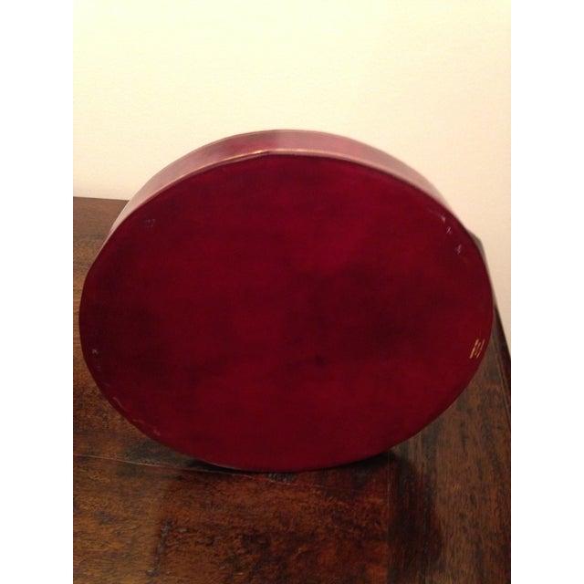 Italian Italian Genuine Calf Leather Tray For Sale - Image 3 of 5