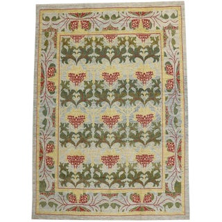 """Turkish Oushak Rug With Arts & Crafts Style Inspired by William Morris - 10'10"""" X 15'2"""" For Sale"""