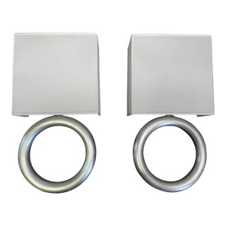 Infinity Silver Ring Wall Sconces by Fine Arts For Sale