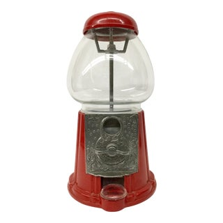 1985 Red Metal Gumball Machine