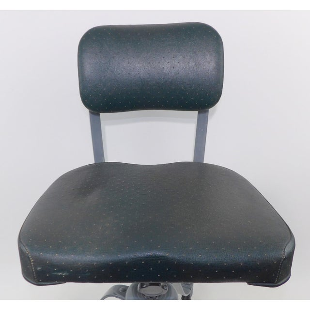 Remington Rand Mid-Century Adjustable Mechanical Age Industrial Office Chair For Sale - Image 10 of 11