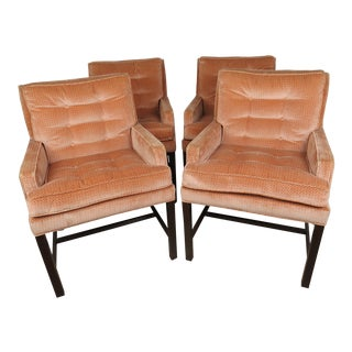 Mid-Century Modern Harvey Probber Walnut Dining Armchairs - Set of 4 For Sale