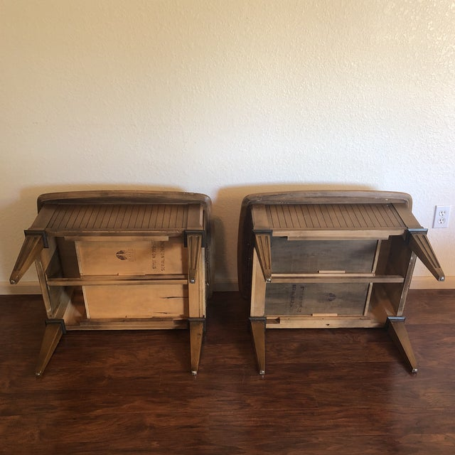 Wood Lane Mid-Century Modern Side Tables - A Pair For Sale - Image 7 of 13