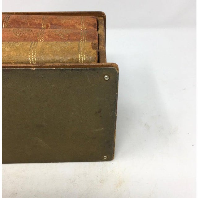 Vintage French Book Style Cigarette Box Desk Organizer For Sale - Image 11 of 12