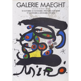 Joan Miró, Galerie Maeght Exhibtion, Lithograph Poster For Sale