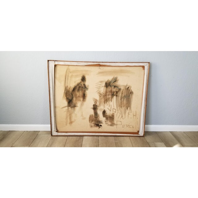 1970's John Purcell Abstract Still Life Oil on Canvas Painting, Framed For Sale - Image 10 of 12