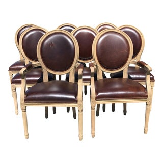 Restoration Hardware Vintage French Round Dining Chairs - Set of 8
