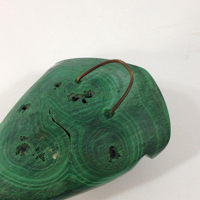 Mid-Century Malachite Head Sculpture - Image 6 of 6
