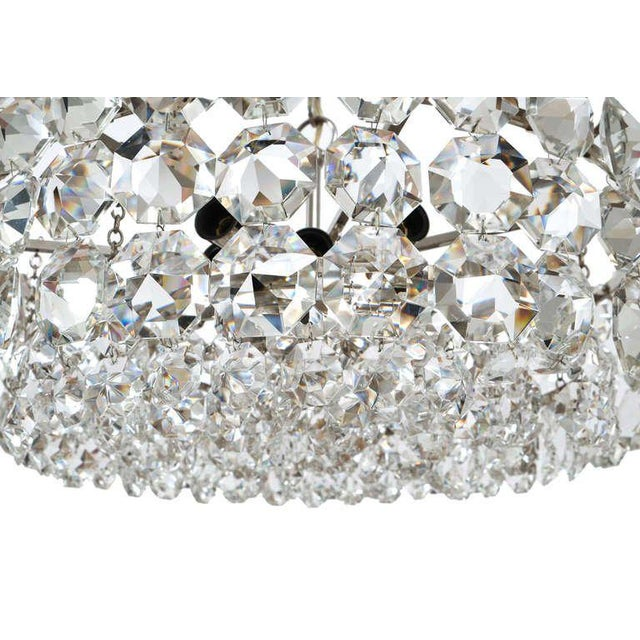 1960s Pair of Large Bakalowits and Sohne Vienna Drum Chandeliers For Sale - Image 5 of 8