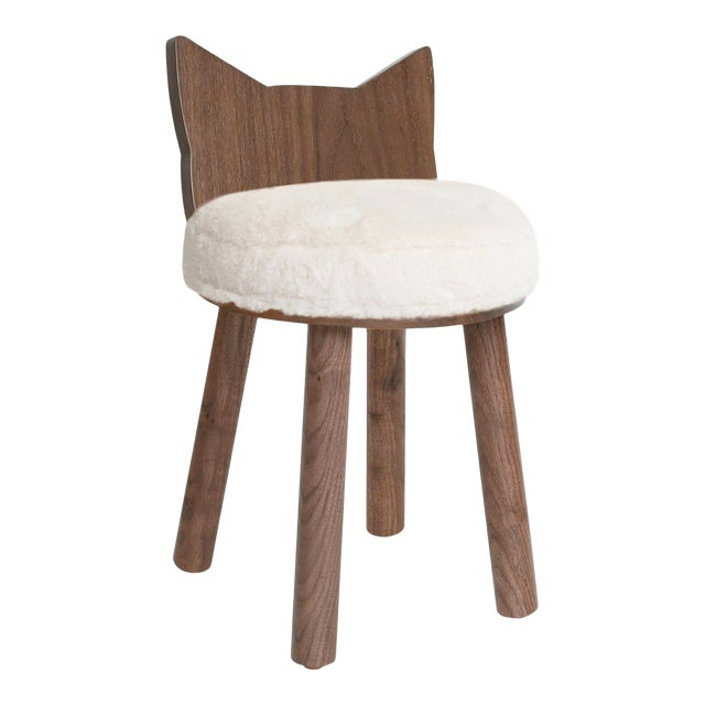 "Nico & Yeye Fuzzy Kitty Kids Chair ""III"" For Sale"