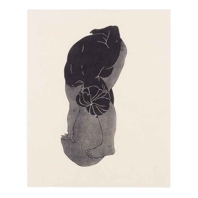 Abstract Christian Johnson Untitled, 2016 Linocut Print For Sale - Image 3 of 4