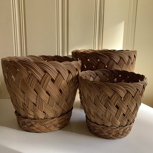 Earthy Classic Basket Vessels, Set of Three For Sale - Image 13 of 13