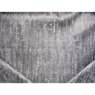 Traditional Clarke & Clarke Aurora Steel Velvet Drapery Upholstery Fabric - 5-1/8y For Sale