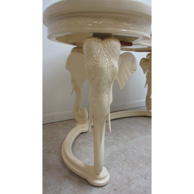 Gampel-Stoll Vintage French Regency Gampel Stoll Fretwork Elephant Writing Desk For Sale - Image 4 of 13