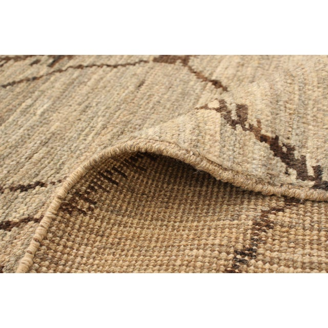 Tan Moroccan Style Hand-Knotted Rug For Sale - Image 8 of 9