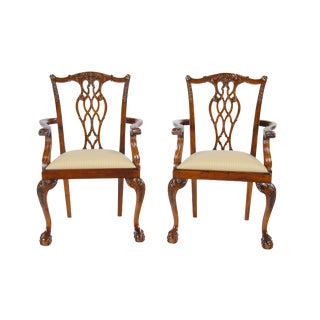 Devon Style Arm Chairs - Pair For Sale