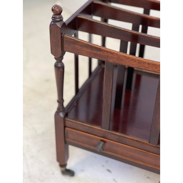 Brown Early 20th Century English Regency Canterbury For Sale - Image 8 of 13
