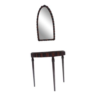 Art Deco Console and Matching Mirror - 2 Pieces For Sale