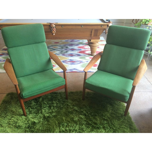 Danish Modern Teak Lounge Chairs - A Pair - Image 2 of 7
