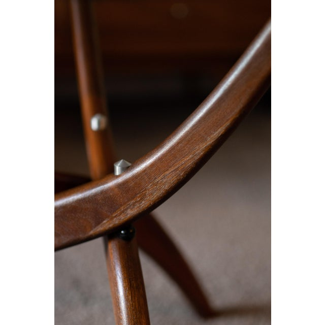 1960s Mid-Century Modern Forest Wilson Sculptural Wood & Glass End Table For Sale - Image 10 of 11