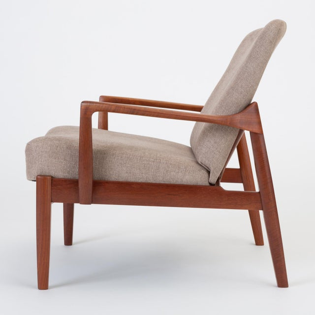 1960s Model 125 Lounge Chair by Tove & Edvard Kindt-Larsen for France & Son For Sale - Image 5 of 13