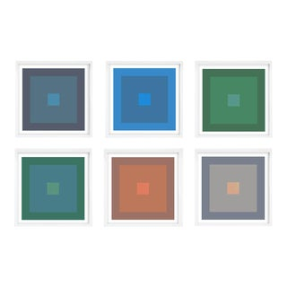 Modern Colorful Geometric Prints - Set of 6 Unframed For Sale