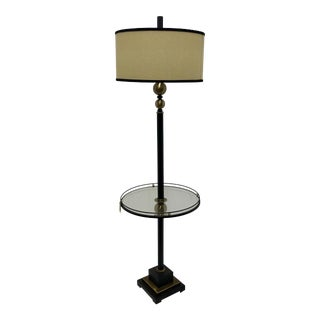 Utermost Revolution End Table Lamp With Glass Table For Sale