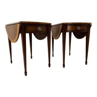 Pair of Antique Style Ethan Allen Pembroke Tables For Sale