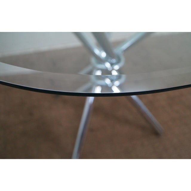 Mid-Century Modern Mid-Century Modern Chrome Leg Glass Top Table For Sale - Image 3 of 10