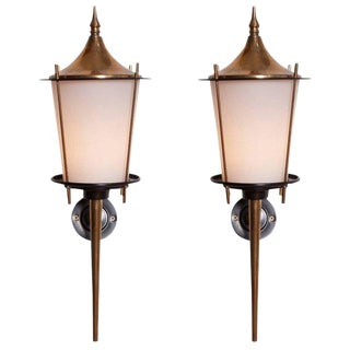 Maison Arlus Pair of Wall Lights, 1970s For Sale