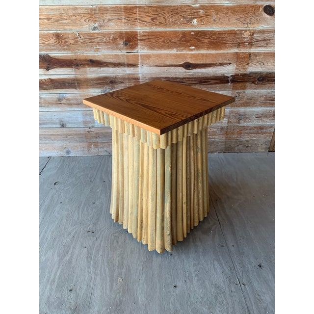 Rustic Florida Studio-Craft Pedestal Table For Sale - Image 3 of 7