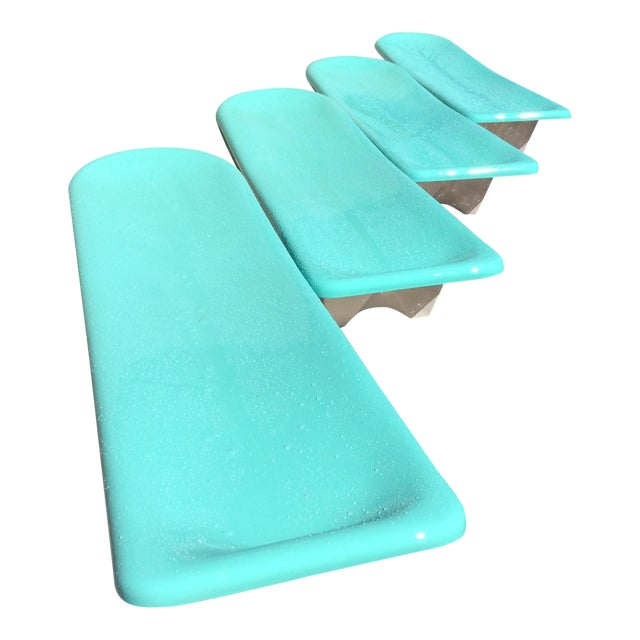 Fibrella Chaise Lounges - Set of 4 For Sale