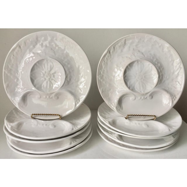 Vintage Portuguese Majolica Artichoke Plates-Set 10 For Sale - Image 13 of 13