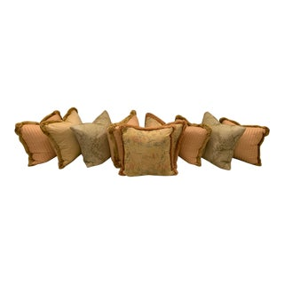 Scalamandre Silk Pillows - Set of 9 For Sale