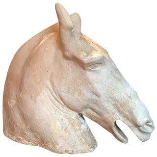 19th Century Antique Cast of Parthenon Selene Horse Head Sculpture For Sale