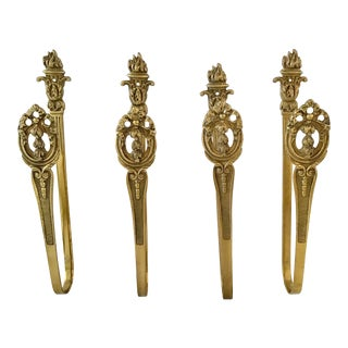 French Bronze Drapery Tie Backs- Set of 4 For Sale