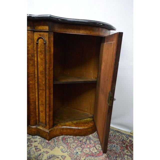 Wood Antique 1800's Burl Walnut Mirrored Sideboard For Sale - Image 7 of 11