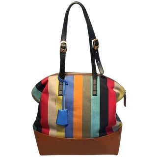 Fendi Multicolor Stripe 2Bag Shoulder Bag Tote For Sale