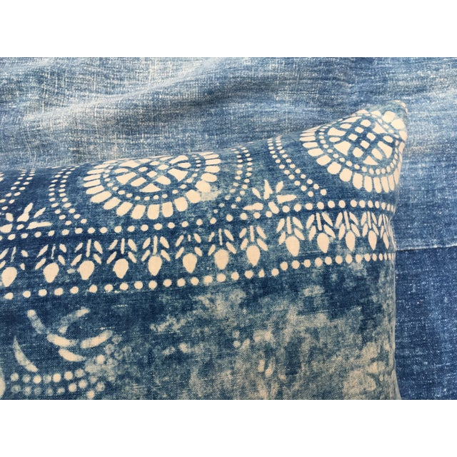 Antique Bleached Batik Pillow - Image 4 of 7