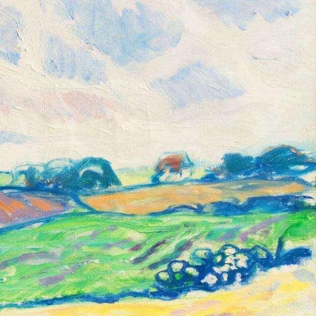 Expressionism 'Sunlit Spring Landscape', by Ejnar Kragh, Paris, Danish Post Impressionist For Sale - Image 3 of 10