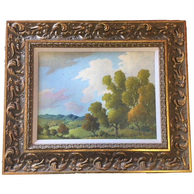 Mid 20th Century Blue Ridge Mountains Landscape Painting Attr. B B Moore For Sale - Image 5 of 5