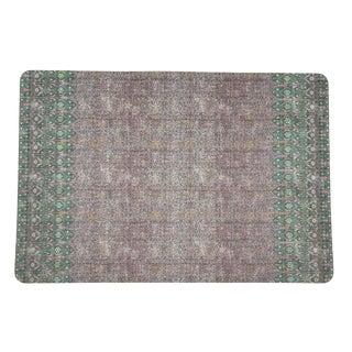 Nicolette Mayer Iznik Green Pink 17 Rectangle Pebble Placemats For Sale