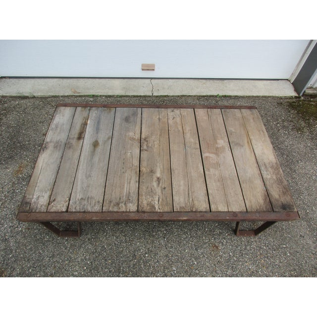 20th Century Industrial Pallet/Coffee Table For Sale - Image 10 of 12