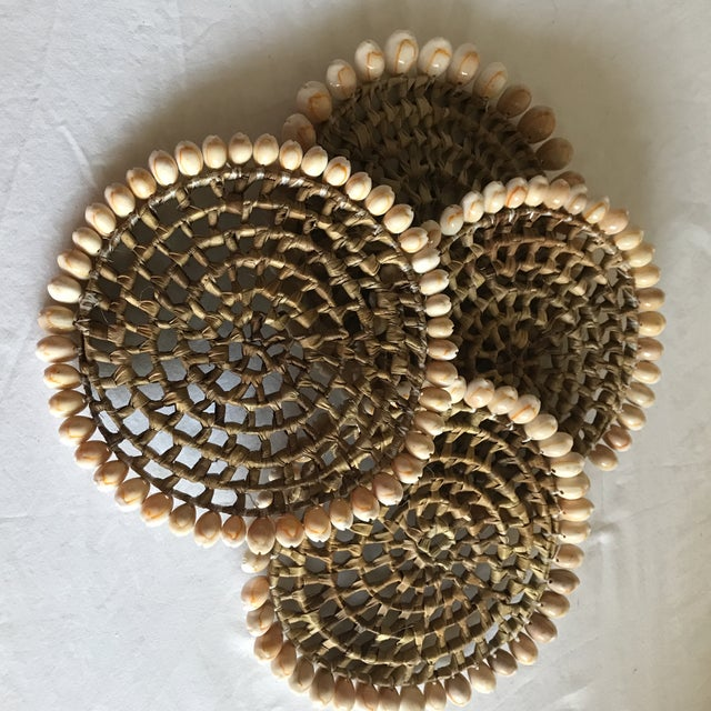 Boho Beach House Seashell Trivets - Set of 4 For Sale - Image 4 of 8