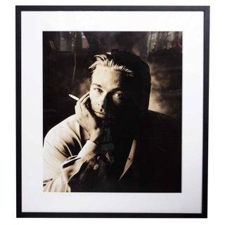 """1993 Signed Phillip Dixon """"Brad Pitt With Cigarette"""" For Sale"""