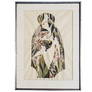 1940s, Jimmy Ernst Surrealist Watercolor Painting For Sale