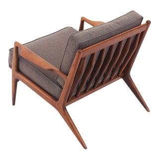 1960s Vintage Ib Kofod-Larsen Danish Modern Lounge Chair For Sale